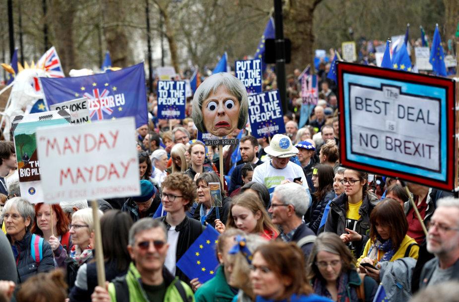"""Londone – masinė demonstracija prieš """"Brexit"""""""