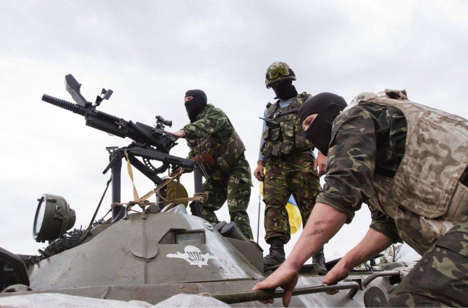Nacionalinės gvardijos kariai Donecke prasiveržė iš apsupimo