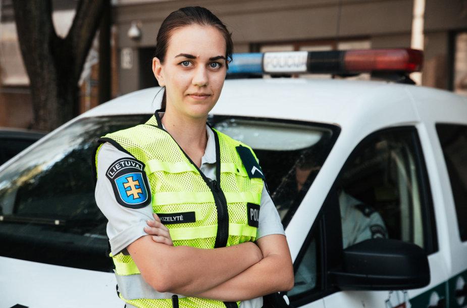 Policijos pareigūnė Indrė Kizelytė