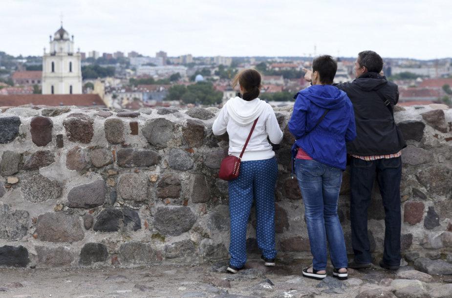 Turistai Vilniaus senamiestyje