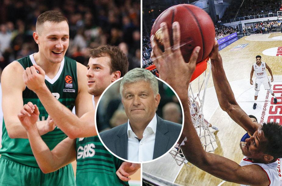"""Ginas Rutkauskas pasitinka išskirtinį mačą: du dešimtmečius dirbęs """"Žalgiryje"""", dabar jis yra Bambergo """"Brose"""" klubo sporto direktorius."""