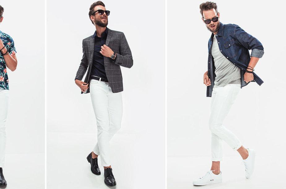 Vyro stilius: balti džinsai