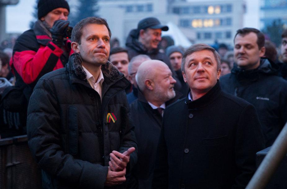Andrius Tapinas ir Ramūnas Karbauskis