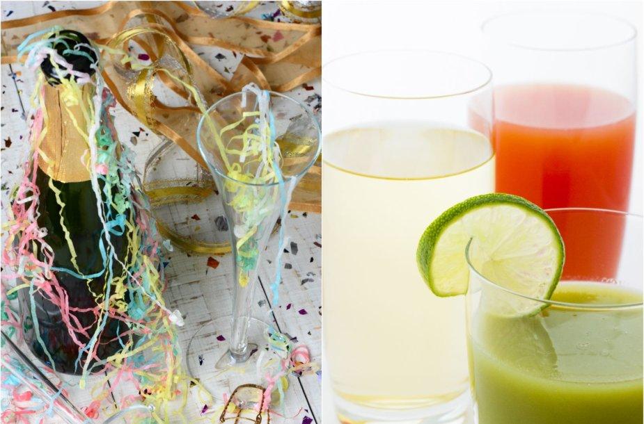 Gaivinantys gėrimai po vakarėlio