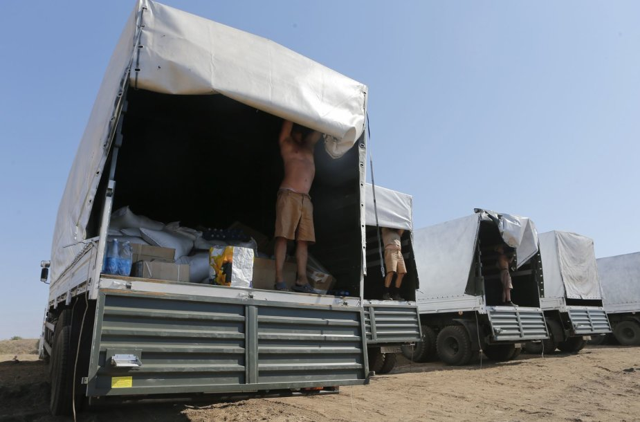 """Rusijos """"humanitarinės pagalbos"""" siunta"""