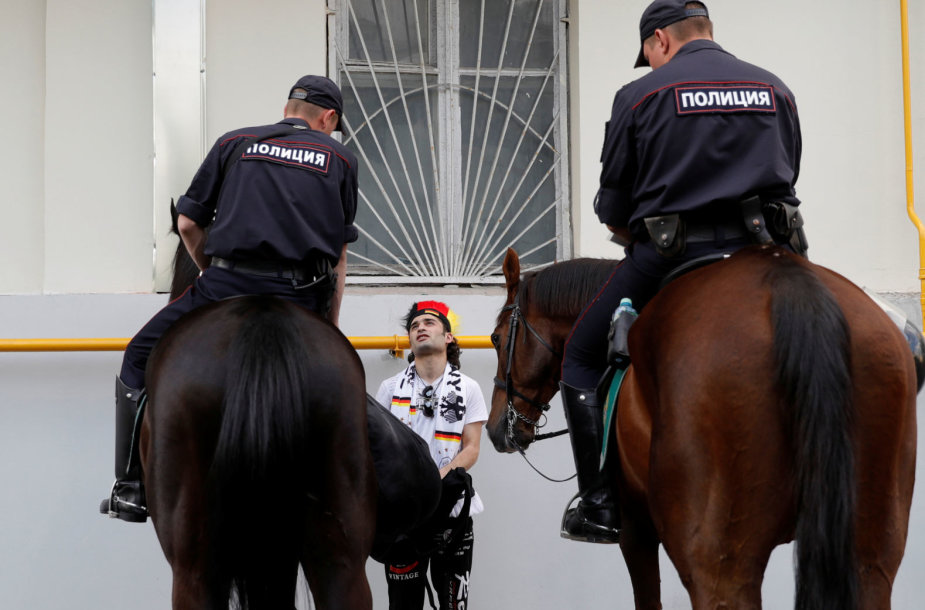 Rusijos pareigūnai pasaulio futbolo čempionato metu
