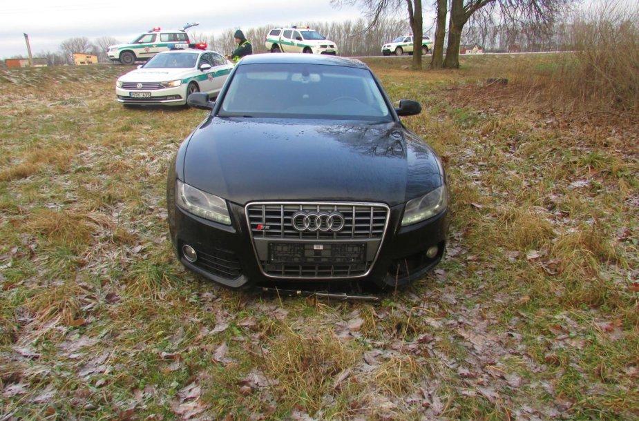 Pavogtas Audi
