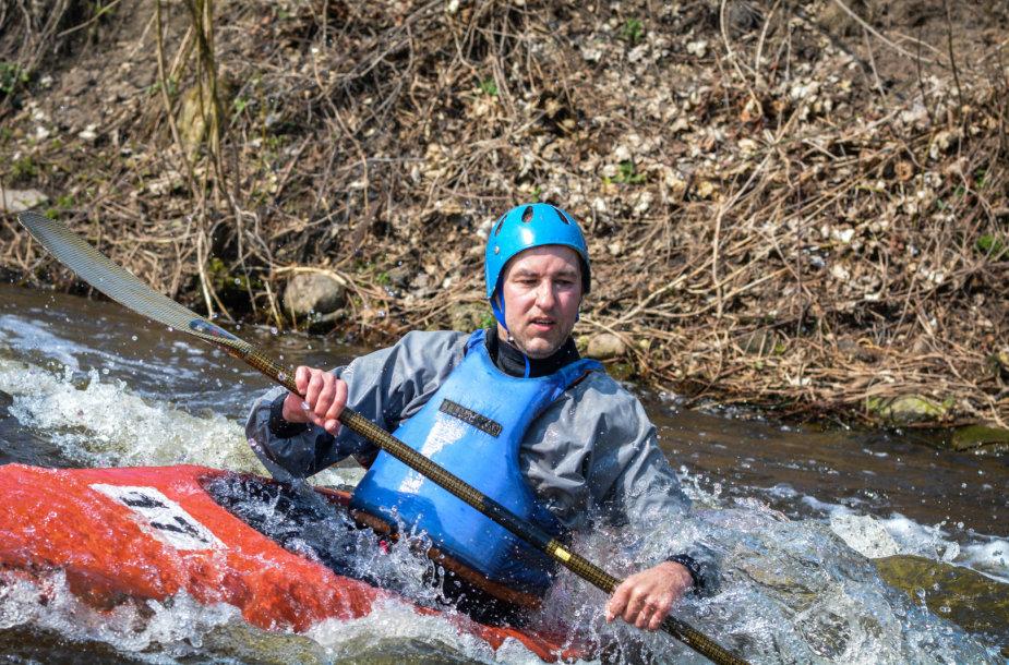 Baidarių varžybos Vokės upėje