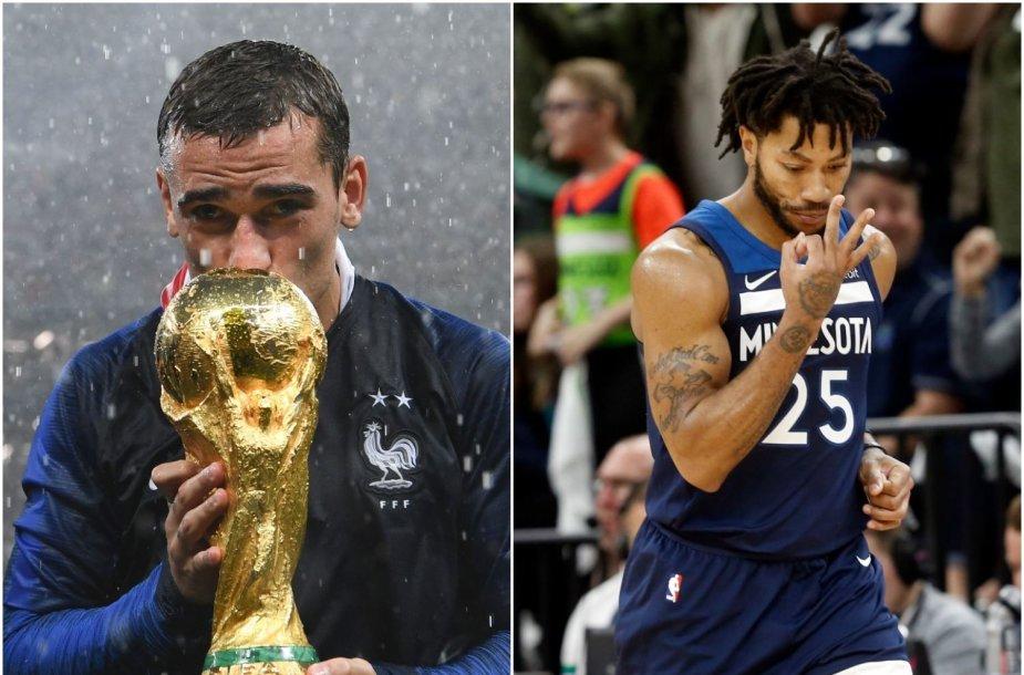 Antoine'as Griezmannas yra krepšininko Derricko Rose'o gerbėjas.