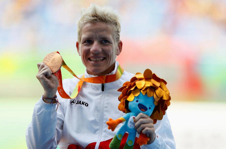 Marieke Vervoort Rio de Žaneire paralimpinėse žaidynėse laimėjo prizinę vietą.