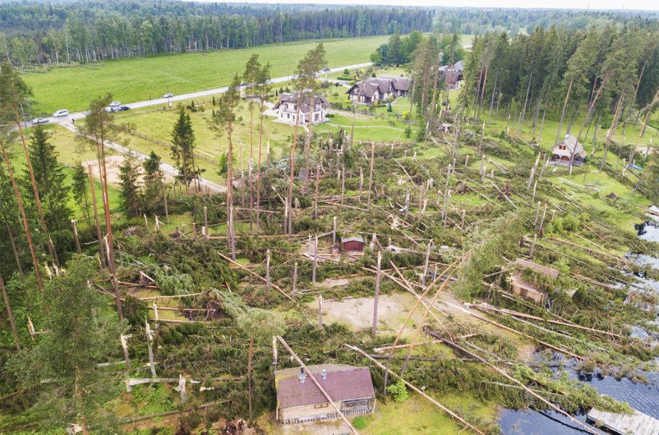 Po audros Latvijoje