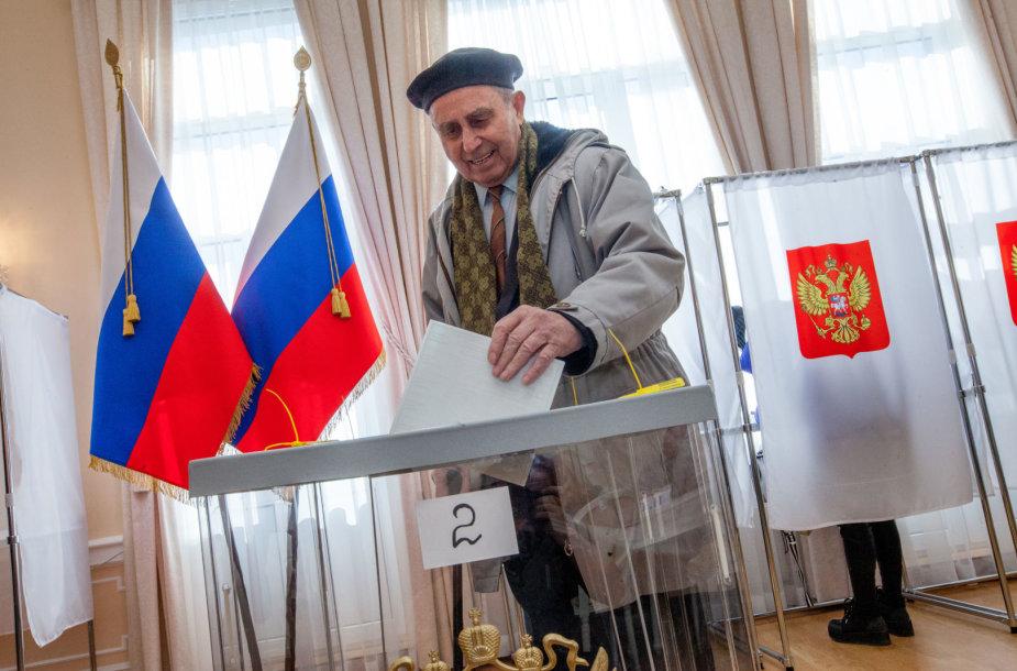 Prezidento rinkimai Rusijos ambasadoje Lietuvoje