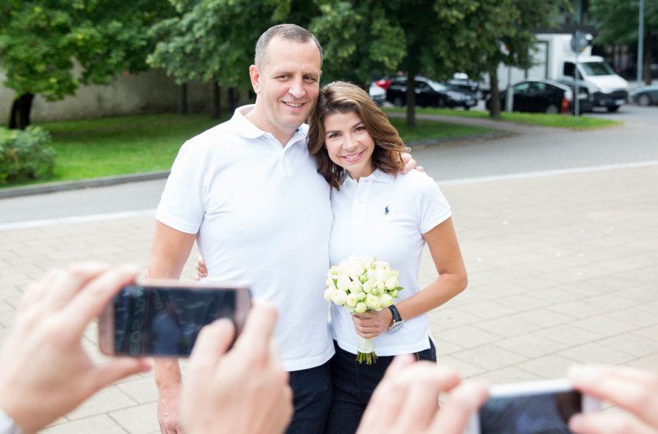 Karolinos Liukaitytės ir Andriaus Čelkio vestuvių akimirka