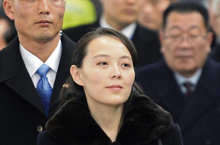 Šiaurės Korėjos lyderio Kim Jong Uno sesuo Kim Yo Jong Pietų Korėjoje