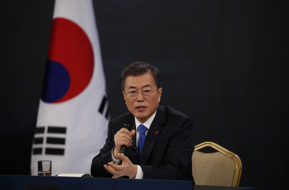 Pietų Korėjos prezidentas Moon Jae-inas