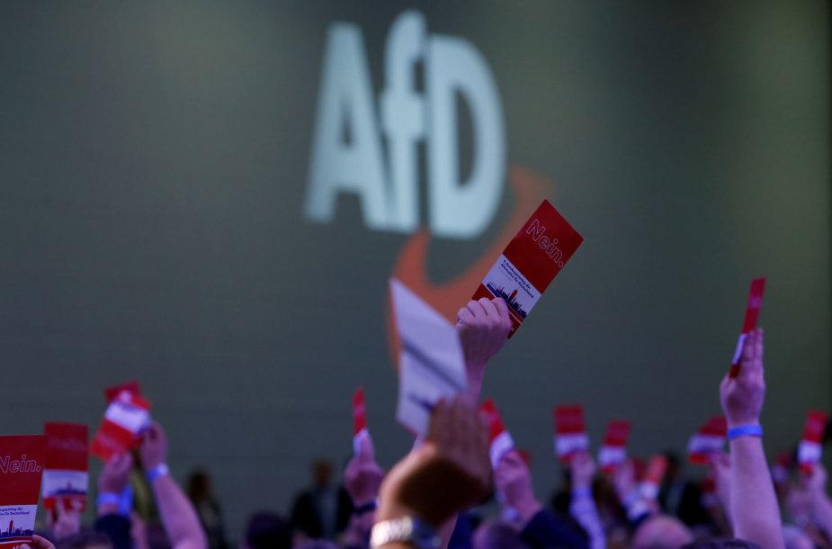 """2018 metais vykęs AfD (""""Alternatyva Vokietijai"""") suvažiavimas"""