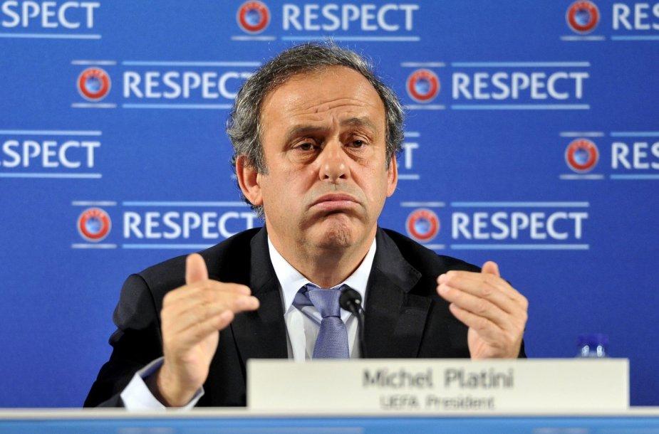 UEFA prezidentas Michelis Platini
