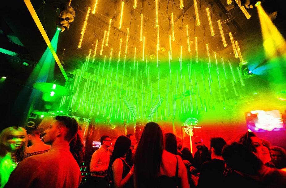 "Vakarėlio klube ""Mojo Lounge Vilnius"" akimirka"