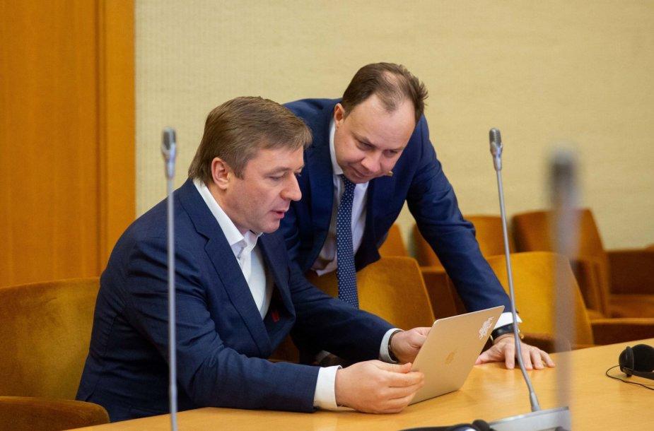 Ramūnas Karbauskis ir Aurelijus Veryga
