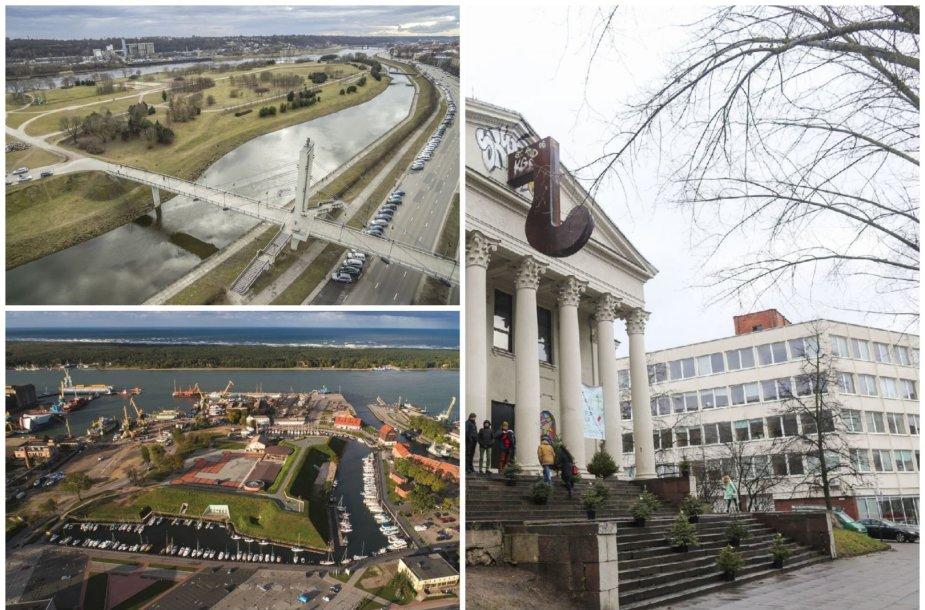 Kauno Nemuno sala, Klaipėdos piliavietė ir Vilniaus stoties rajonas