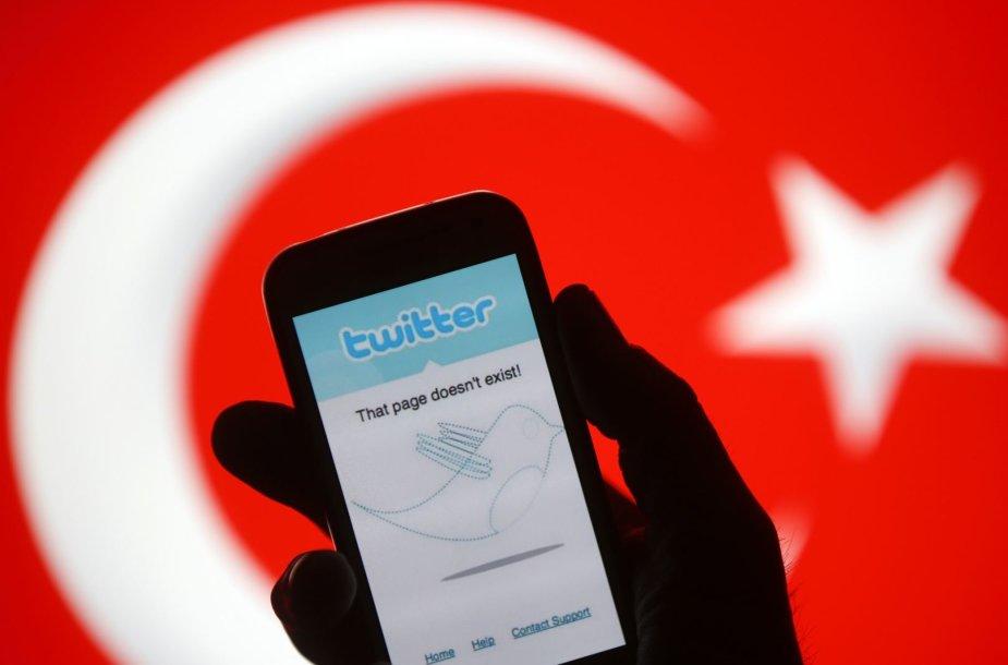 """""""Twitter"""" Turkijoje"""