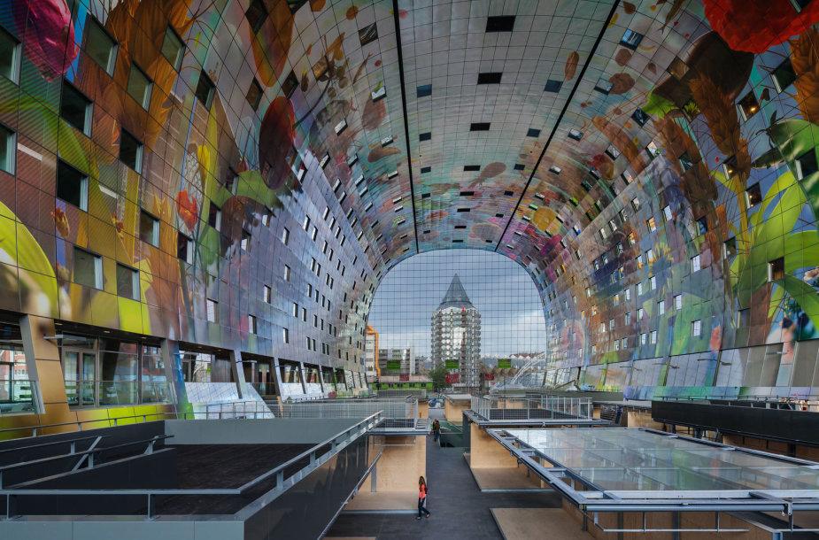 Roterdame atidarytas turgus su 3344,5 kvadratinių metrų freska