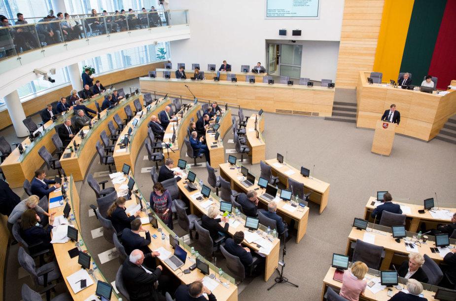 Seime pristatytas 2018 metų valstybės biudžetas