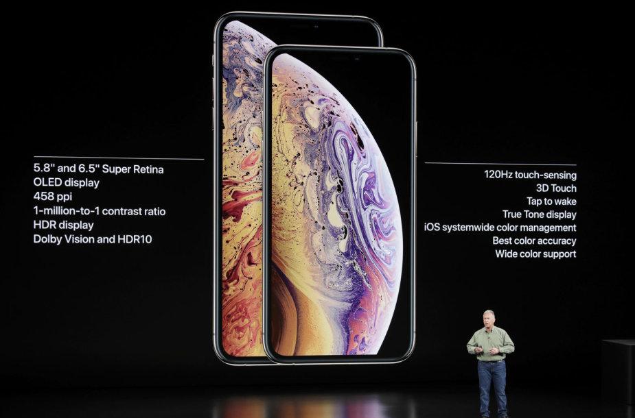 "Naujieji telefonai ""iPhone Xs"" ir ""iPhone Xs Max"""