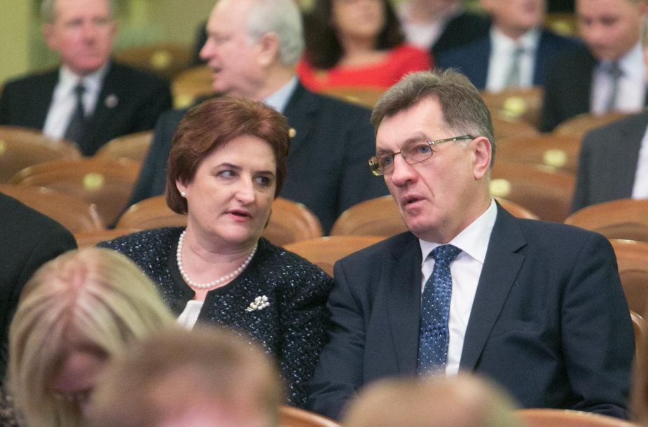 Loreta Graužinienė ir Algirdas Butkevičius