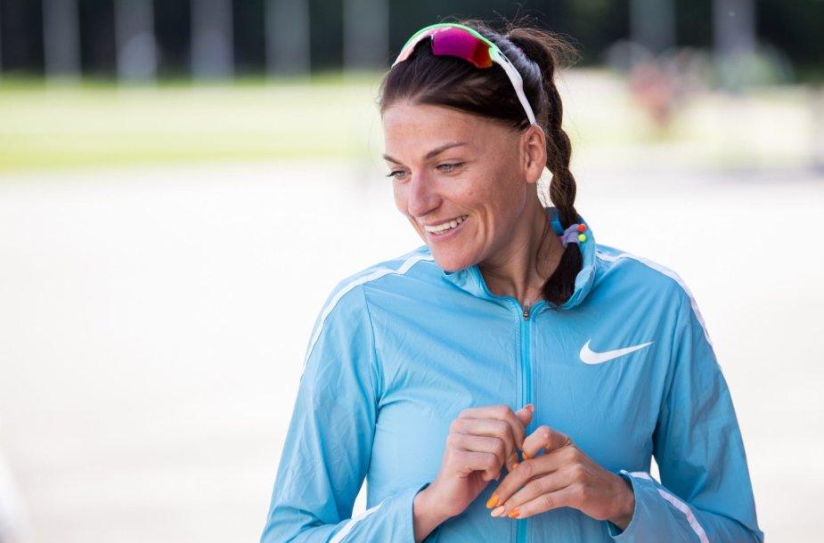 Diana Lobačevskė vedė treniruotę vaikų dienos centrų auklėtiniams