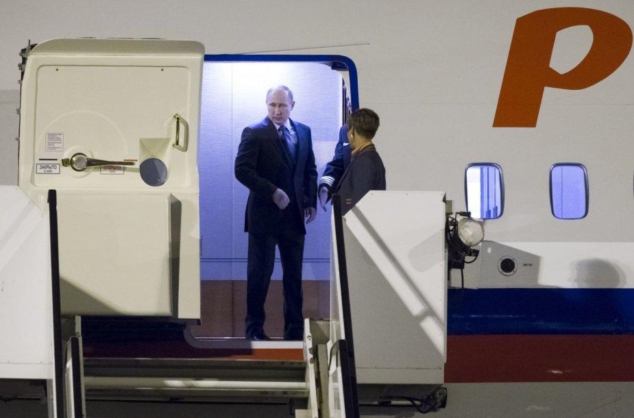V.Putinas atvyko į Hamburgą