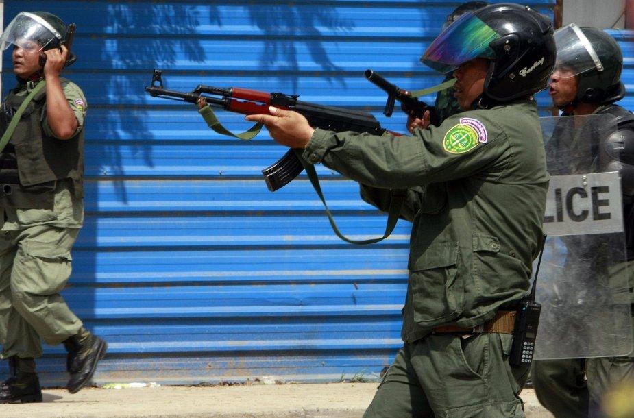 Kambodžos riaušių policija