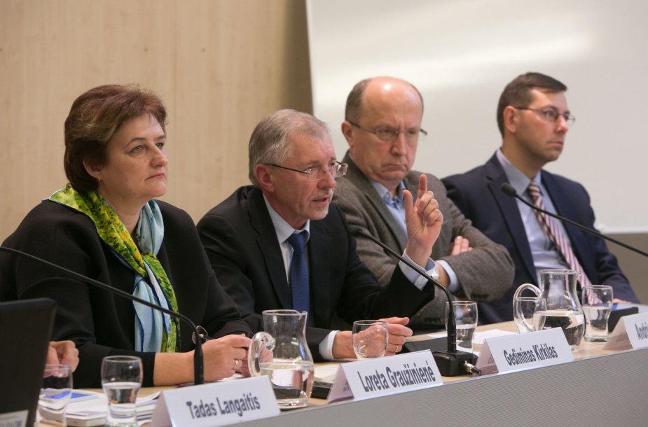 Iš kairės: Loreta Graužinienė, Gediminas Kirkilas, Andrius Kubilius, Gintaras Steponevičius