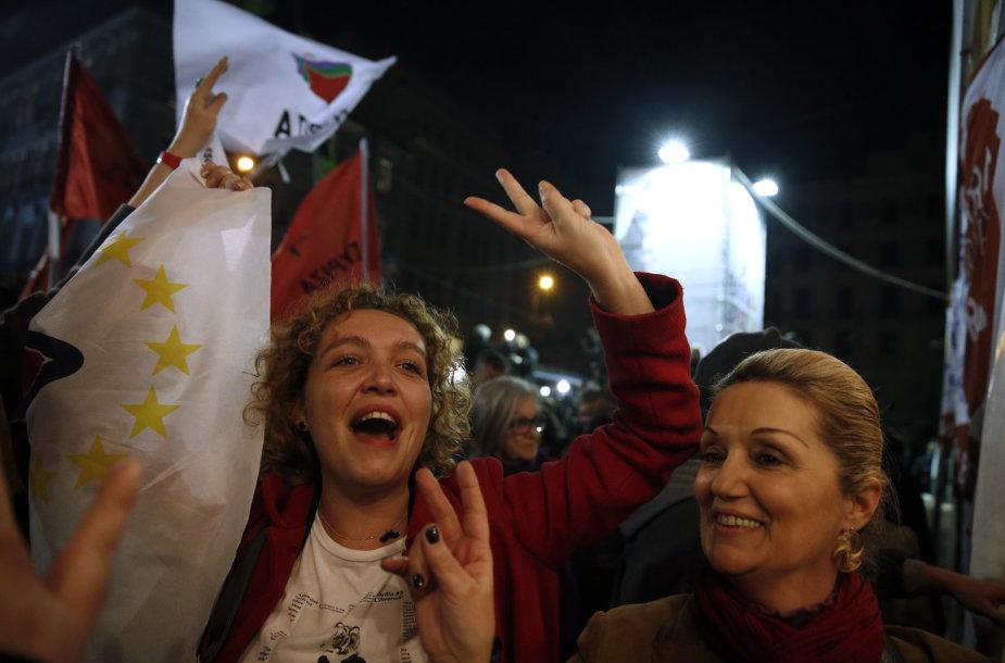 Rinkimų rezultatų laukimas Graikijoje