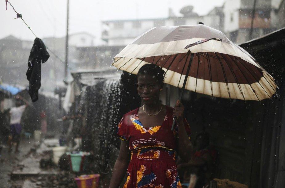 Siera Leonės gyventoja Frytaune