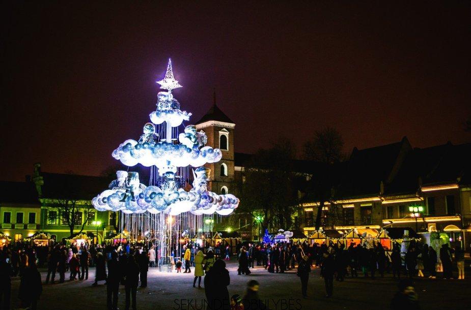 Kauno kalėdinė eglutė - vėl gražiausia Lietuvoje