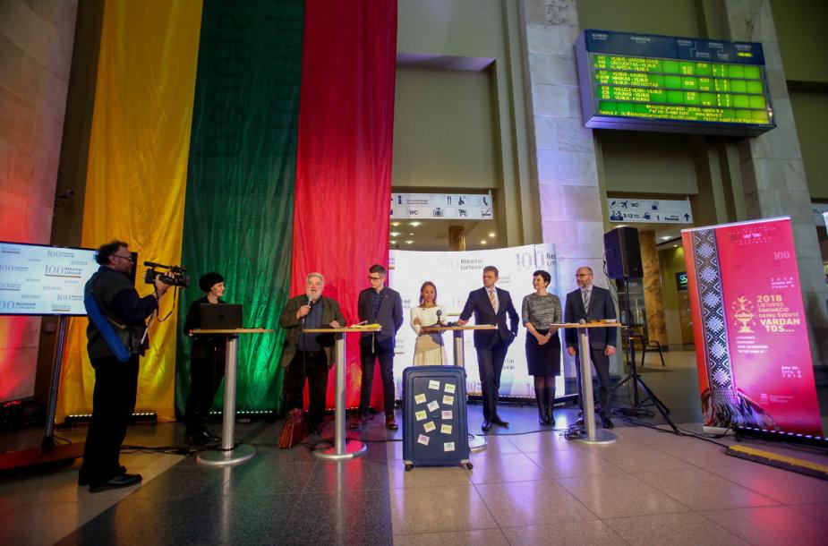 Spaudos konferencija, kurioje pristatomos Valstybės atkūrimo šimtmečio programos ir projektai