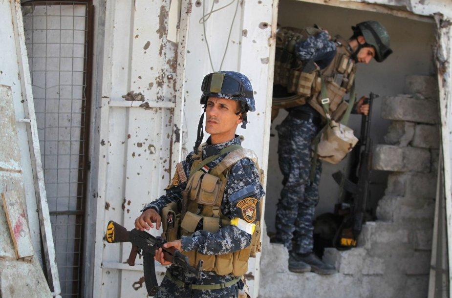 Mosulo senamiestį puolančios Irako pajėgos