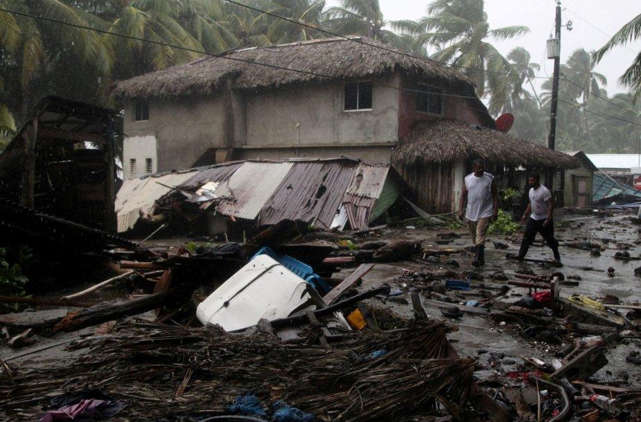 Uragano Irmos nusiaubta Dominikos Respublika