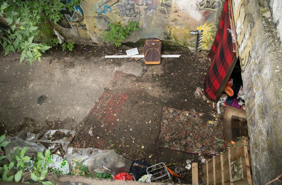 Apleistas požeminis garažas Vileišio gatvėje