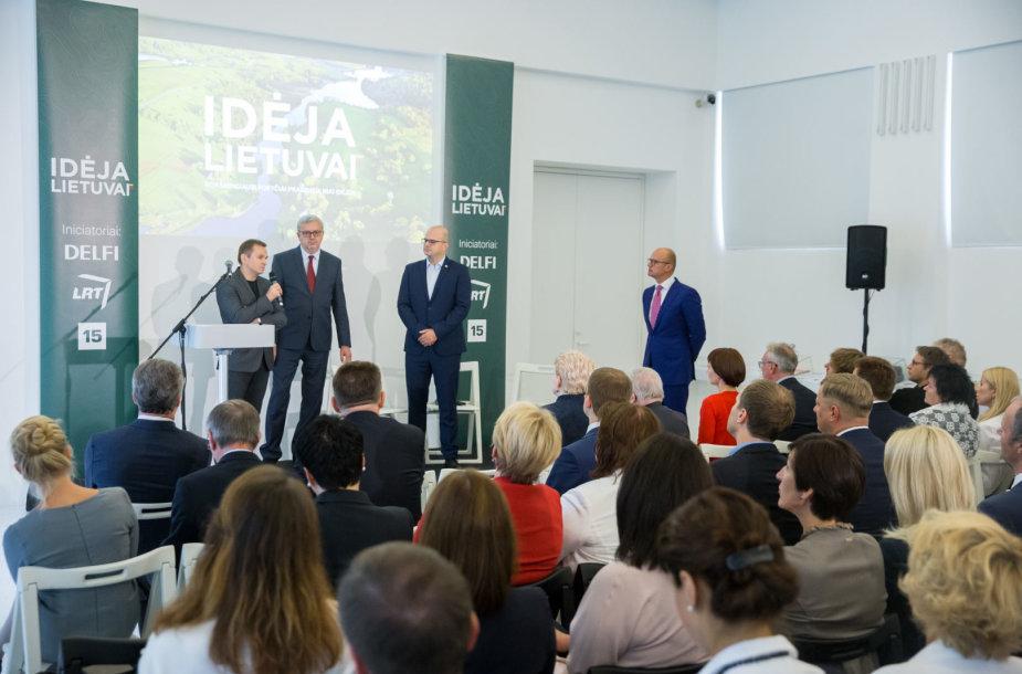 """Iniciatyvos """"Idėja Lietuvai"""" pristatymas"""