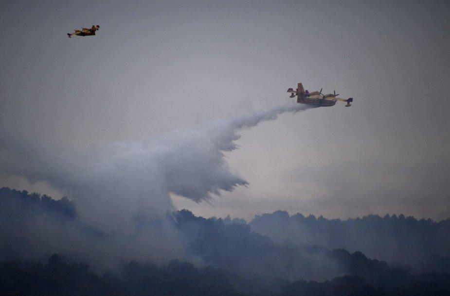 Gesinamas gaisras Pietų Prancūzijoje