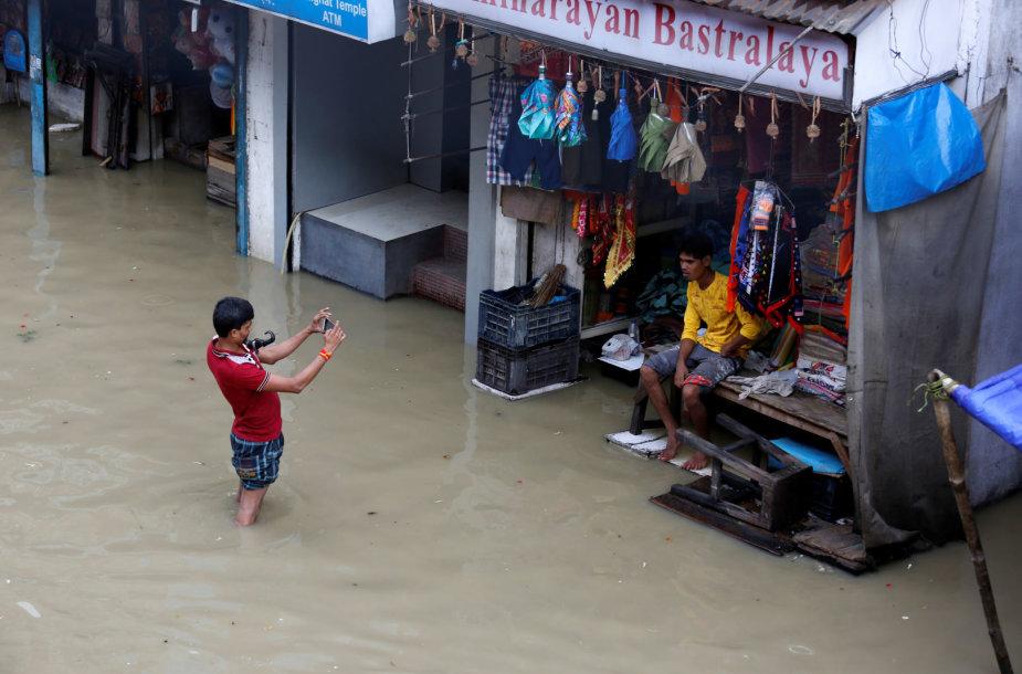 Potvynis Indijoje