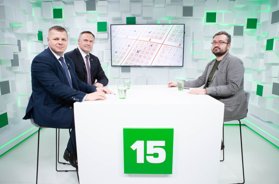 15min studijoje lankosi Kęstutis Smirnovas ir Virgilijus Alekna