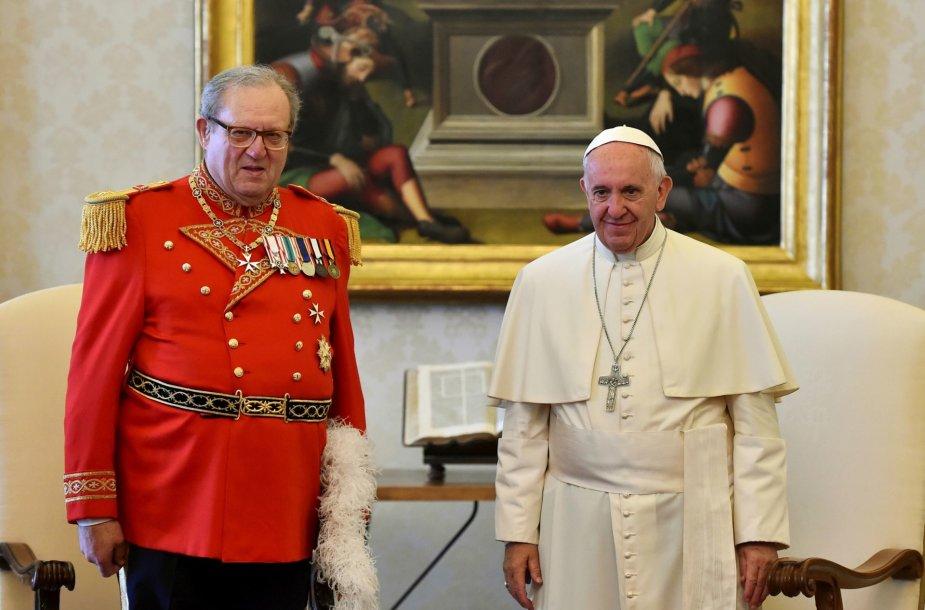 Matthew Festingas ir popiežius Pranciškus