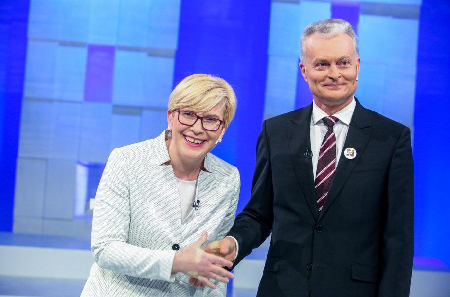 LRT debatai. Ingrida Šimonytė ir Gitanas Nausėda.