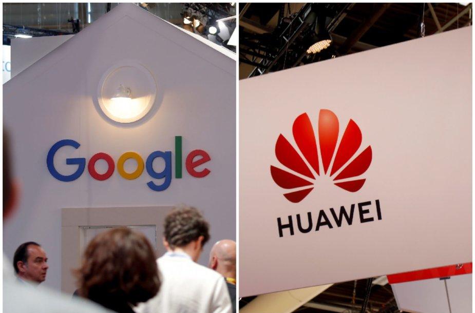 """""""Huawei"""" ir """"Google"""""""