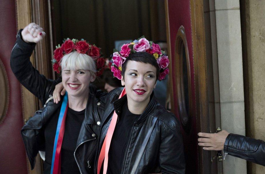 """Femen"" aktyvistės Paryžiuje"