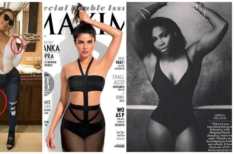 Didžiausios fotošopo klaidos 2016 metais: Mariah Carey, Priyanka Chopra ir Serena Williams