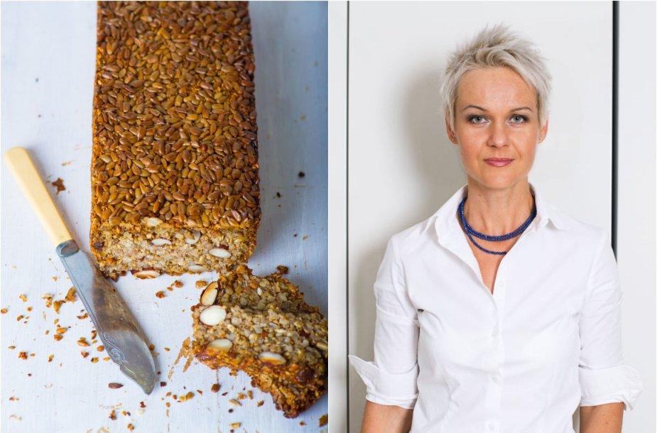 Nida Degutienė ir jos kepta duona be miltų